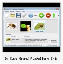 3d Cube Grand Flagallery Skin Sliding Gallery Flash Horizontal