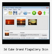 3d Cube Grand Flagallery Skin Xml Slideshow In Flash Backwards Loop