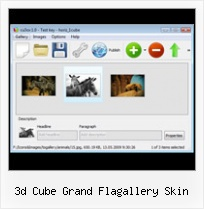 3d Cube Grand Flagallery Skin Flash Slideshow Swf